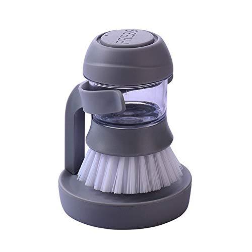LEYIJU Cepillo de Plato, Mango Corto Cocina Lavar Cepillo con dispensador de jabón líquido automático añadir Esencia de...