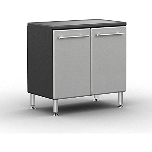 Large 2 Door Base Cabinet w Adjustable Shelf and Feet by Ulti-MATE Garage