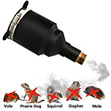LOMEREY Underground Rodent Killer, Kills Moles, Gophers, Voles, Ground Squirrels, Prairie Dogs and More, Exhaust Pipe to Hose Adapter for Pest Extermination