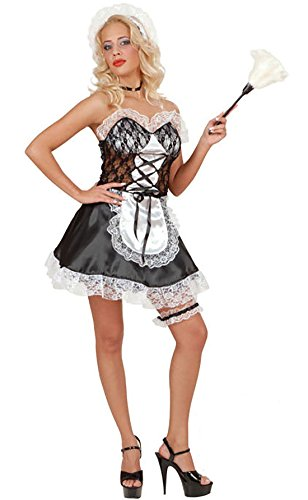 de Un traje sirvienta sat 21fashion Black Woman Dress Sleeveless francesa de qSxxBUawF