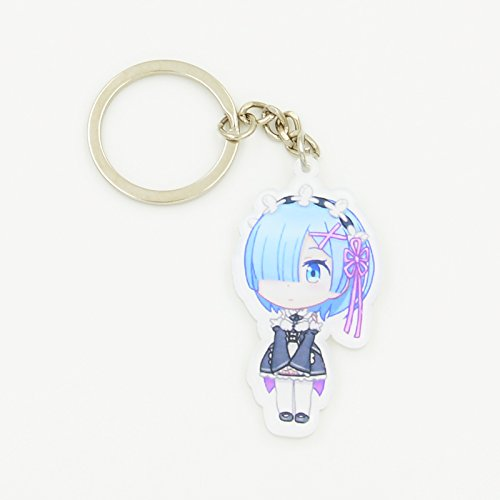 Keychain KeyRing Schoolbag Pendant for Anime Re:Zero kara Hajimeru Isekai Seikatsu (Anime Keychain)