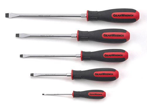 (GEARWRENCH 80053 5 Piece Slotted Dual Material Screwdriver Set)