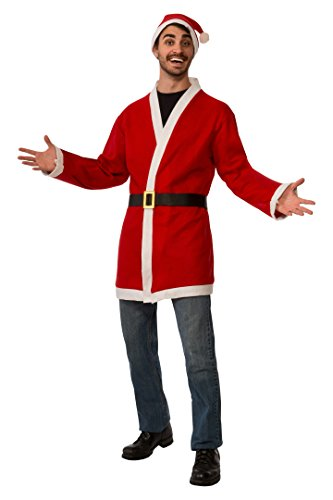 Rubie's Men's Clausplay Santa Jacket with Belt and Hat, Multi-Colored, One Size -