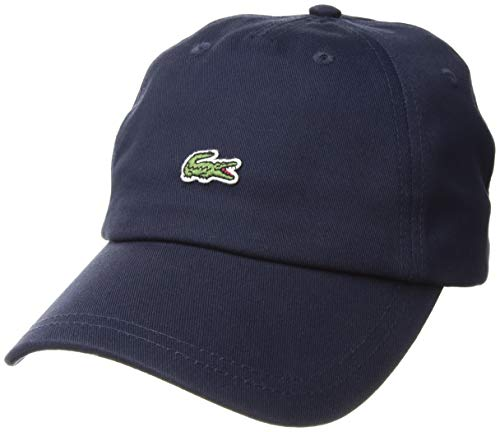 Lacoste Men's Embroidered Crocodile Cotton Cap, navy blue, One Size from Lacoste