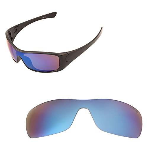 Walleva Replacement Lenses for Oakley Antix Sunglasses - 15 Options Available (One Color, Ice Blue - Mr. Shield - Lenses Oakley Sunglasses Replacement For