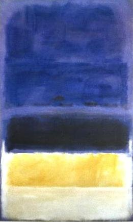 mark rothko untitled blue dark blue yellow canvas museum replica