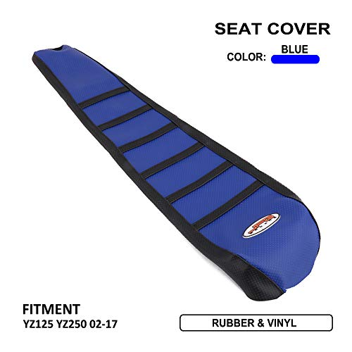 - JFG RACING Blue/Black Gripper Soft Motorcycle Seat Cover For Yamaha YZ125 YZ250 02-16 Off Road MX