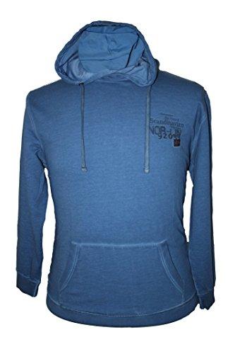 Übergrößen Kapuzen-Sweatshirt by Kitaro in night blue bis 8XL