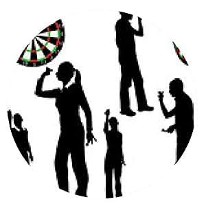 alfombrilla de ratón los jugadores de dardos - vector - ronda - 20cm