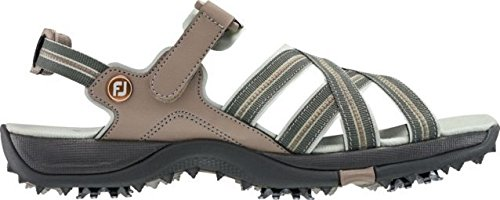 FootJoy Women's Specialty Cleated Golf Sandals (9, (Tan Womens Golf Shoe)