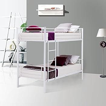 Amazon Com Sturdy Metal Twin Over Twin Bunk Bed In Black