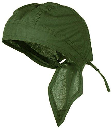 Doo Rag Du Rag Do Cotton Bandana Head Wrap Solid Color Chemo Cap (Olive Drab OD (Tan Olive Drab)