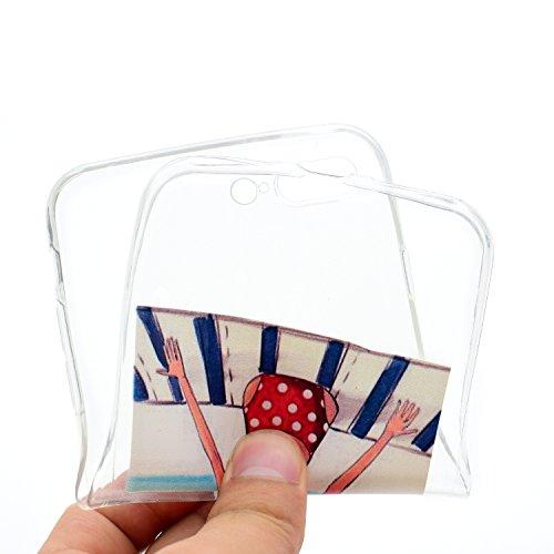 iPhone 8 Hülle,Teppich Mädchen Premium Handy Tasche Schutz Transparent Schale Für Apple iPhone 8 + Zwei Geschenk