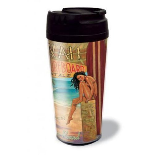 Kona Surfboard Rentals Thermal Tumbler by Zero Gravity Hawaii by Zero Gravity Hawaii