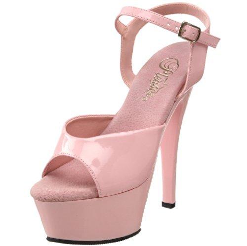 Pleaser KISS-209 - Sandalias de vestir para mujer rosa claro