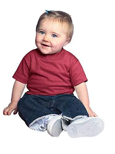 Rabbit Skins 100% Cotton Blank Infant Football Jersey Tee [Size 12 Months ] Cardinal Red Short Sleeve T-Shirt
