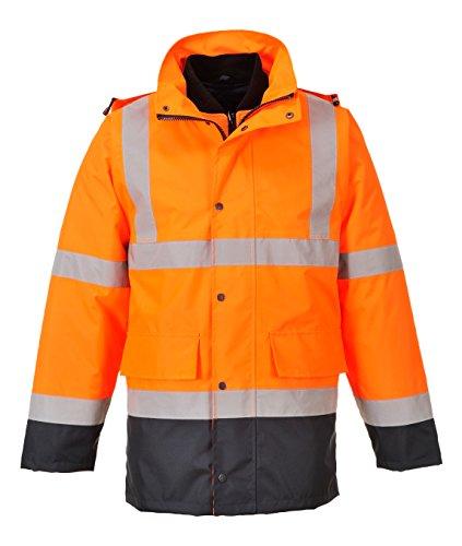 Kontrast Warnschutz 1 4 PORTWEST Verkehrsjacke S471ONRXXL 1 Orange Stück In XXL IHaZBw