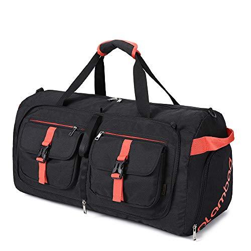 Plambag Reisetasche faltbar Sporttasche für Damen und Herren mit großer Tasche 55 l 100 l für Reisen Sport