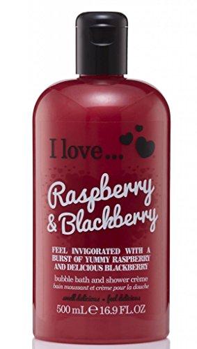 I Love... Raspberry & Blackberry Bubble Bath And Shower Creme 500ml (Raspberries Blackberries)