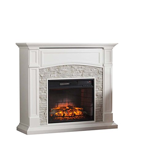 BOWERY HILL Infrared Electric Fireplace TV Stand (Hill Electric Fireplace)