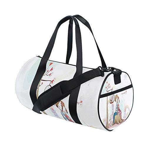 (Gym Bag Cartoon Valentine's Love Duffel Bag Sport&Travel Lightweight for)