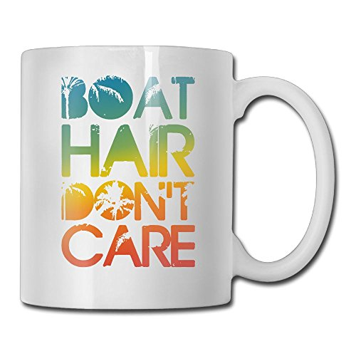 ZhiqianDF Boat Hair Don't Care Cute Morning Cup,11oz