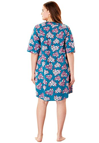 Dreams & Co. Women's Plus Size Short French Terry Robe by Dreams & Co. (Image #2)