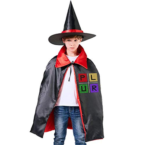 Wodehous Adonis Plur Neon Blocks EDM Concert Grils Boys Women Halloween Costumes Cloak And Wizard Hat For Holiday Cosplay -