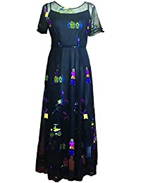 CG Women's Vintage Floral Print Short Sleeve Maxi Long Dress Swing Casual Party Dress 867C265