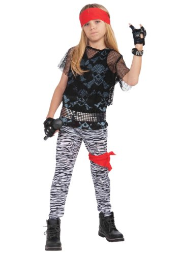 [Forum Novelties 80's Rock Star Child Boy's Costume, Large] (Biker Kid Costume)