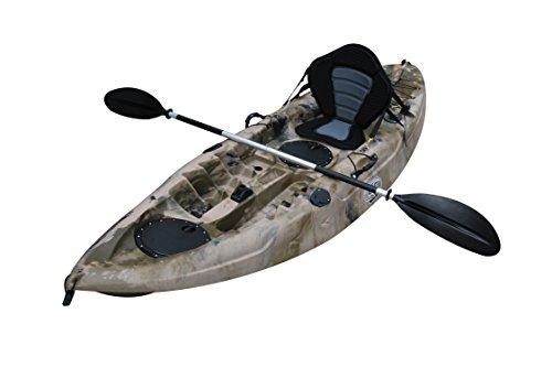 """BKC UH-FK184 9'2"""" Sit on Top Single Fishing Kayak Seat and P"""