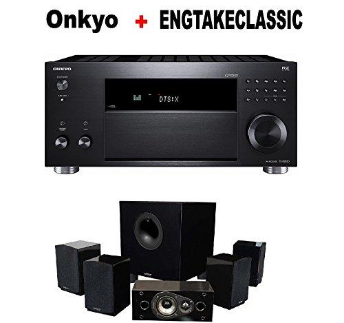 Onkyo Rz Series Audio & Video Component Receiver Black (TX-RZ820) + Energy 5.1 Take Classic Home Entertainment System (Set of Six, Black) Bundle