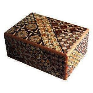 Hakone parquet made parquet workmaker Secret box 4 size 7 times Trick Box 7steps -