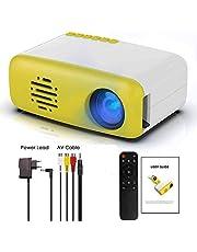 Roebii Mini Vidéoprojecteurs, HD 1080P Supporté Rétroprojecteur LED Projecteur Portable avec télécommand/câble AV/Adaptateur/Manuel d'instructions, USB/HDMI/SD/AV Compatible, pour Voyage et Maison