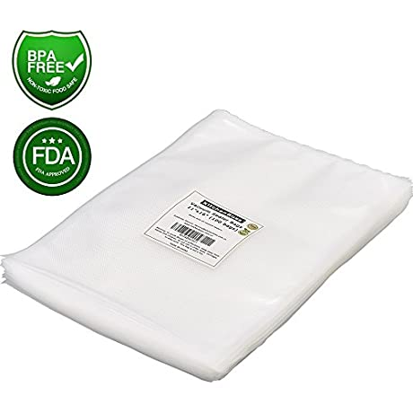 Vacuum Sealer Bags 100 Gallon Size 11 X16 KitchenBoss Commercial Grade For Food Vacuum Storage Bags For Food Saver And Sous Vide BPA Free And FDA Approval