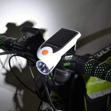 Faros delanteros para bicicleta, luz solar USB para bicicleta ...