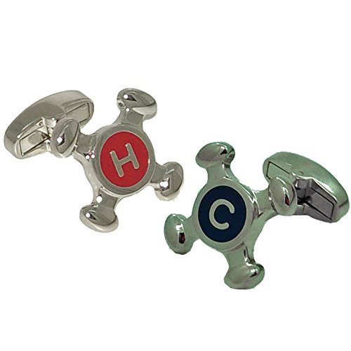 Cold Faucet Cufflinks - Cuffs & Co Hot & Cold Faucet Cufflinks | British Made