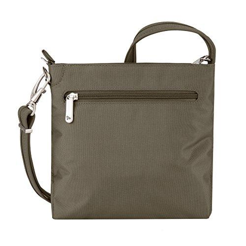 Travelon Women's Anti-theft Classic Mini Shoulder Bag Sling Tote, Nutmeg by Travelon (Image #6)