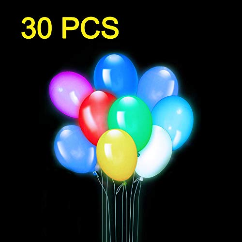 LifBetter 30 PCS LED Light Up Balloons, 3 Modes Flashing Glow Party Supplies Perfect for Wedding Birthday Festive Party Decoration by LifBetter