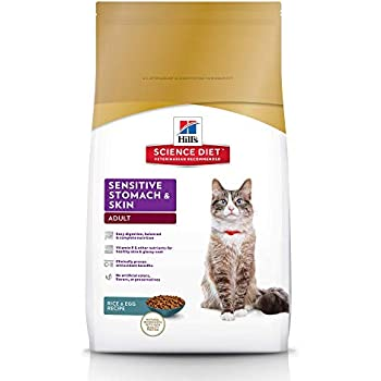 Hills Science Diet Dry Cat Food, Adult, Sensitive Stomach & Skin, Chicken & Rice Recipe, 3.5 lb Bag