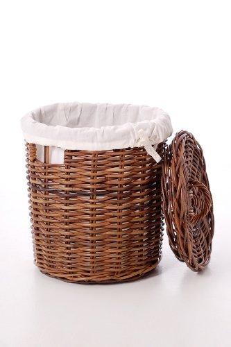 VIVANNO Runder Wäschekorb Wäschebox