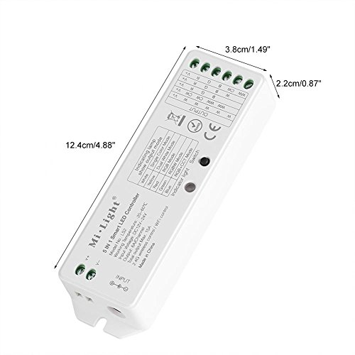 Milight 5 In 1 LED WiFi Bridge Controller Wireless Dimmer for Series RGBW  WW/CW RGB + CCT Led Light Compatible with Mi light B8 Remote or (wifi ibox)