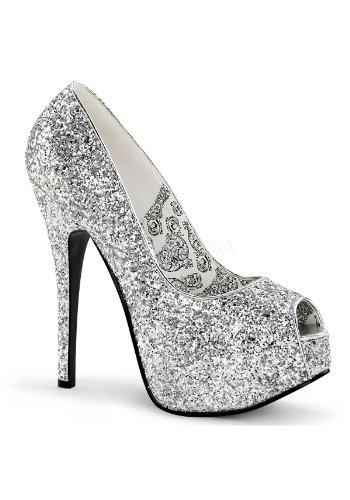 G 6 Bordello Slv TEEZE femme Glitter UK 22G Sandales pour BnqzxwCrBR
