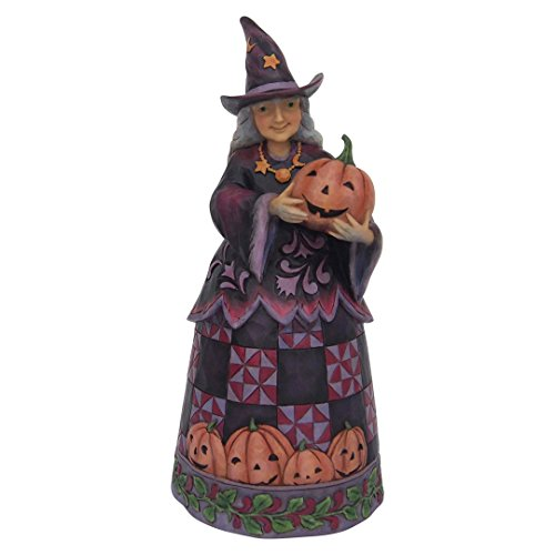 Enesco Jim Shore Heartwood Creek Halloween Witch with Pumpkin -