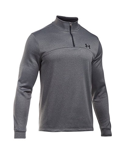 Under Armour Men's Storm Armour Fleece 1/4 Zip, Carbon Heather (090)/Black, Small by Under Armour (Image #3)