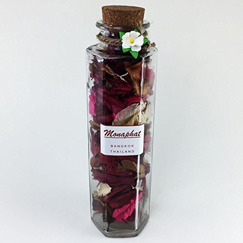 MONAPHAT The Beautiful Glass Bottle Design Decorative with ORCHID Fragrance Potpourri #PR-0510 by MONAPHAT