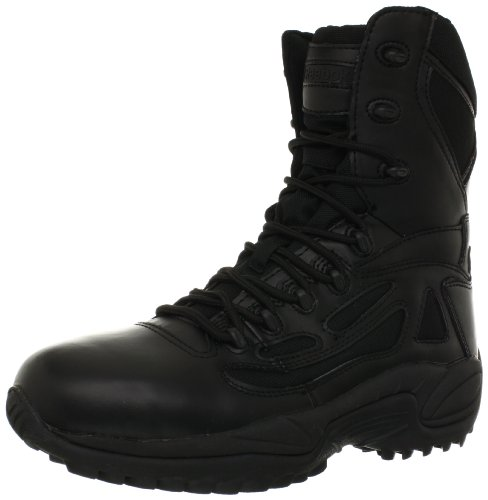 Response 8 Inch Side Zipper (Reebok Men's Rapid Response RB Stealth Waterproof Boot with Side Zipper, Black, 8