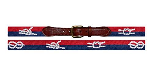 Smathers & Branson Nautical Knots Traditional Needlepoint Belt, Size 42 (B-247-42) ()
