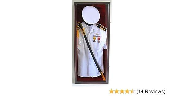 Amazon.com : Military Shadow Box Uniform Sword/Gun Display Case ...