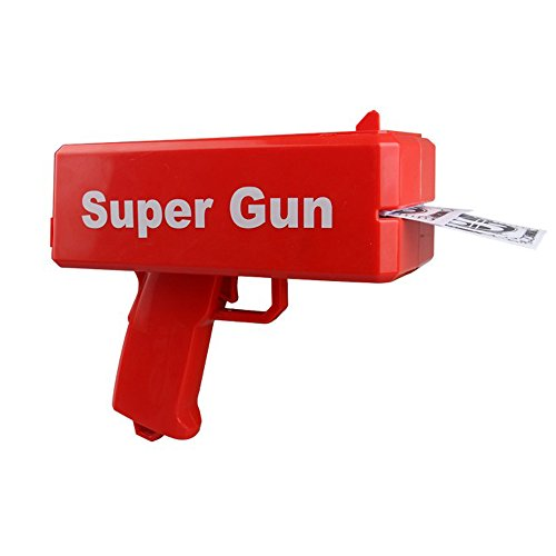 Super Money Gun with Battery Props Money